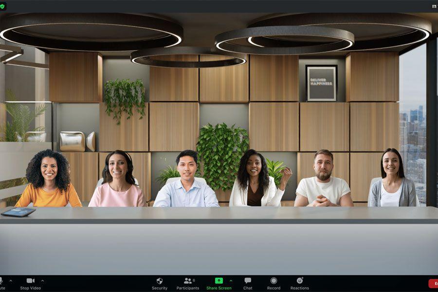 La nueva Vista Inmersiva de Zoom permite mezclar a todos los participantes en un solo fondo virtual